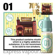 Recipe 01 - VaporWorks e-liquid - 70% - 30ml