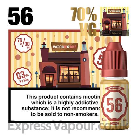 Recipe 56 - VaporWorks e-liquid - 70% - 30ml