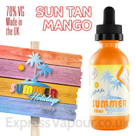 Sun Tan Mango - Summer Holidays e-liquids by Dinner Lady - 70% VG - 50ml