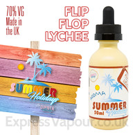 Flip Flip Lychee - Summer Holidays e-liquids by Dinner Lady - 70% VG - 50ml