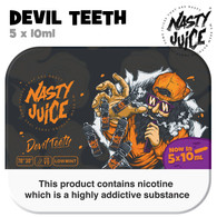 Devil Teeth - Nasty Juice e-liquid - 70% VG - 50ml