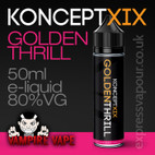 Golden Thrill - Koncept XIX e-liquid - 80% VG - 50ml