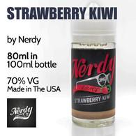 Strawberry Kiwi - by Nerdy eJuice - 70% VG - 80ml