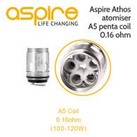 Aspire Athos  atomiser A5 penta coil 0.16 ohm