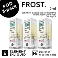 3 pack - Frost - Element Pod for Aspire Gusto Mini - 2ml and 20mg