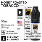 Honey Roasted Tobacco - ELEMENT NS20 high nicotine e-liquid - 10ml