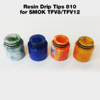 Replacement Resin Drip Tip - for 810 size tank tops, e.g. the SMOK TFV8/TFV12 tanks