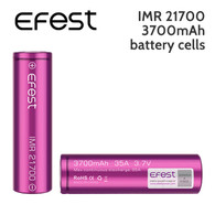 2 pack – Efest IMR 21700 rechargeable 3700mAh battery cells