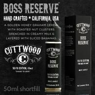 Boss Reserve e-liquid – Cuttwood Vapor – 70% VG – 50ml