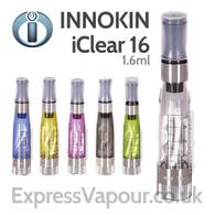 Innokin iClear 16 - Dual Coil Clearomiser - various colours