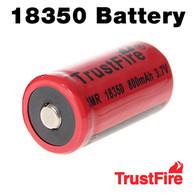 18350 Trustfire 800mAh Rechargeable Li-ion Battery