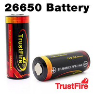 2 pack - Trustfire 26650 Rechargeable 5000mAh 3.7v Li-ion Batteries