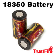 2 Pack - Trustfire 18350 Rechargeable 1200mAh Li-ion Batteries