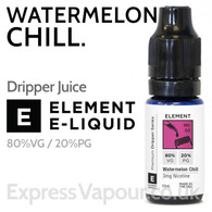 Watermelon Chill - ELEMENT 80% VG Dripper e-Liquid - 10ml