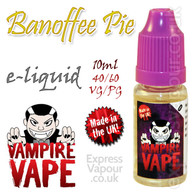 Banoffee Pie - Vampire Vape 40% VG e-Liquid - 10ml