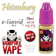 Heisenburg - Vampire Vape 40% VG e-Liquid - 10ml