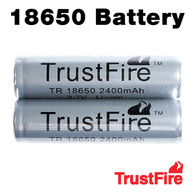 2 Pack - Trustfire 18650 Rechargeable 2400mAh Li-ion Batteries