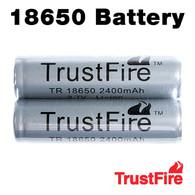2 Pack - Trustfire 18650 Rechargeable 2400mAh Li-ion Batteries