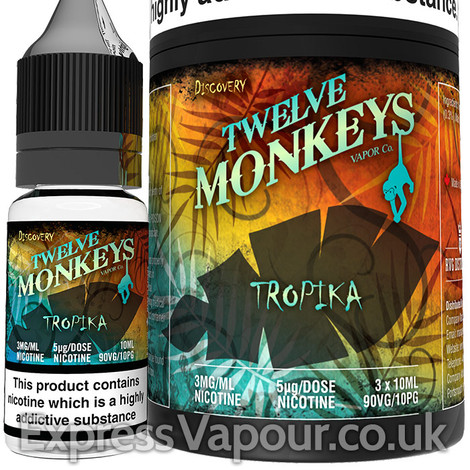 TROPICA - Twelve Monkeys e-liquid - 90% VG - 30ml