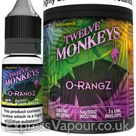 O-RANGZ - Twelve Monkeys e-liquid - 80% VG - 30ml