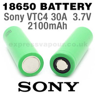 2 pack - SONY 18650 Rechargeable 2100mAh Batteries - VTC4