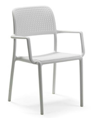 Nardi Bora (with arms) Deck Chair - White