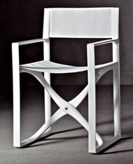 La Regista Luxury Italian Deck Chair - White