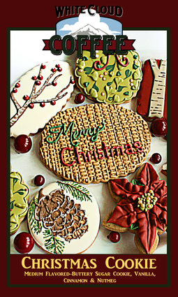 Sweet flavors of cinnamon and vanilla combine with buttery sugar cookie flavors to create a special holiday treat.  Enjoy this special holiday treat without any of the guilt or extra pounds! 100% Arabica beans.