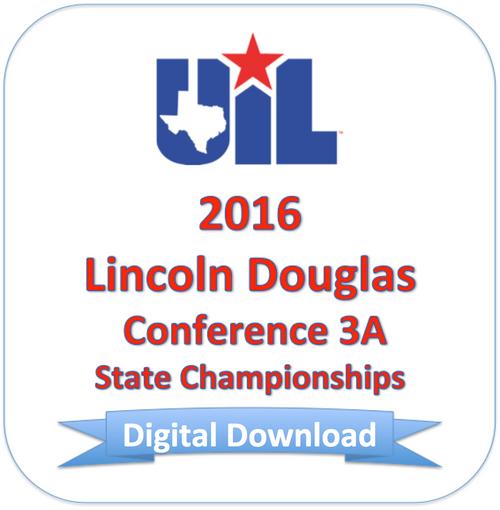 2016 Lincoln Douglas 3A Finals
