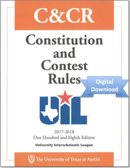 2017-2018 Constitution and Contest Rules (Digital)