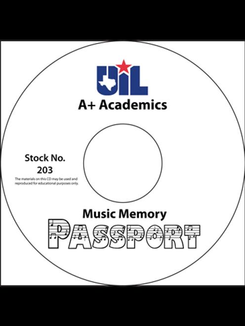 Music Memory Passport (on CD)