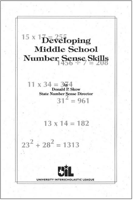 Developing Middle School Number Sense Skills