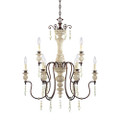 Millennium Lighting 7309-AW/BZ Denise Chandelier in Antique White/Bronze