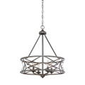 Millennium Lighting 2174-AS Lakewood Chandelier in Antique Silver