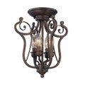 Millennium Lighting 1144-RBZ Chateau Semi Flushmount in Rubbed Bronze