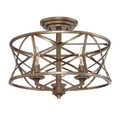 Millennium Lighting 2173-VG Lakewood Semi Flushmount in Vintage Gold
