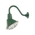Millennium Lighting RAS10-SG R Series Angle Warehouse Shade Light in Satin Green