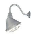 Millennium Lighting RAS12-GA R Series Angle Warehouse Shade Light in Galvanized
