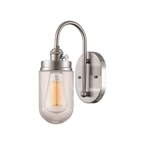 Millennium Lighting 5309-BN Neo-Industrial RGCNR Wall Sconce in Brushed Nickel  sc 1 st  CLW Lighting & Millennium Lighting 5309-BN Neo-Industrial RGCNR Wall Sconce in ...