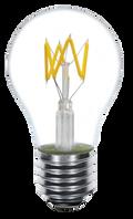Kodak 41159 4W A19 LED Filament Zig Zag 2700K Lightbulbs (Set of 4)