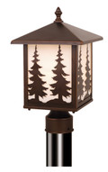 "Vaxcel OP33485BBZ Yosemite 8"" Outdoor Post Light"