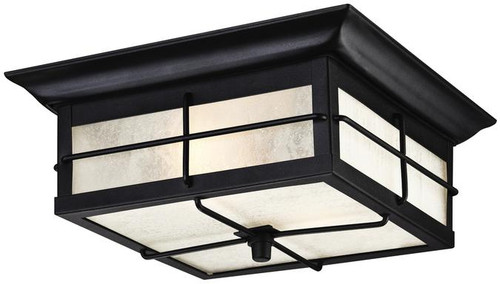 Westinghouse outdoor flushmount light with textured black finish westinghouse 6204800 orwell two light outdoor flush fixture aloadofball Gallery