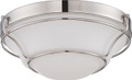 NUVO Lighting 62/529 Baker LED Flushmount Fixture with Satin White Glass