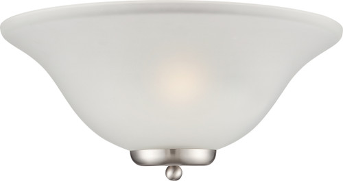NUVO Lighting 60/5382 Ballerina 1 Light Wall Sconce Brushed Nickel with Frosted Glass