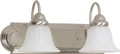"NUVO Lighting 60/320 Ballerina 2 Light 18"" Vanity with Alabaster Glass Bell Shades"