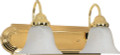 "NUVO Lighting 60/328 Ballerina 2 Light 18"" Vanity with Alabaster Glass Bell Shades"