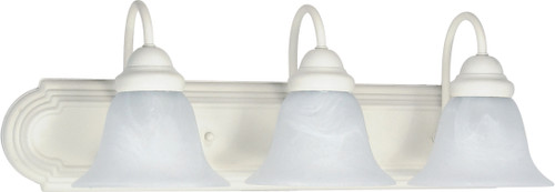 "NUVO Lighting 60/333 Ballerina 3 Light 24"" Vanity with Alabaster Glass Bell Shades"