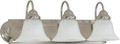 "NUVO Lighting 60/321 Ballerina 3 Light 24"" Vanity with Alabaster Glass Bell Shades"