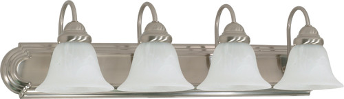 """NUVO Lighting 60/322 Ballerina 4 Light 30"""" Vanity with Alabaster Glass Bell Shades"""