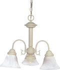 "NUVO Lighting 60/188 Ballerina 3 Light 20"" Chandelier with Alabaster Glass Bell Shades"